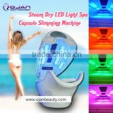 salon use Full-body steam bath spa beauty equipment with 8 different color led light spa capsule