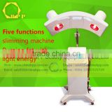 New arrival solan use five function body sliiming machine for burning fat with light energy