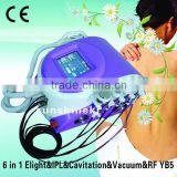 BEST quality ultrasonic liposuction cavitation+rf vacuum with Elight IPL handle for hair removal loss weight