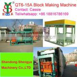 Shengya QT6-15a Fully Automatically concrete,fly ash block making machines small scale industries in india images China supplier