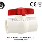 upvc cpvc compact ball valve/threaded or socket white or grey ASTM JIN DIN BS standard pvc valve