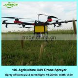 10kg battery power uav drone crop sprayer/duster for new precision agriculture spraying service company