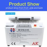 AK with pneumatic lock New 12inch lcd repair glass refurbish laminate oca film laminating machine for samsung and for iphone oca