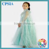 Wholesale baby girls dress tutu long tulle dress cute children smock dresses with glitter cape set for kids