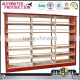 Popular sale 6 layers school library furniture steel book store shelves double sided library shelves