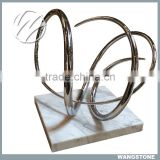 Stainless Steel Famous Metal Abstract Modern Sculpture