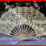 Beautiful lace bamboo fan for ladies
