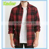 Classic heavyweight flannel plaid shirt for men Image