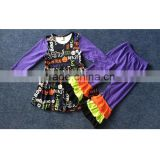 New Item Wholesale boutique suppliers baby Halloween clothes two piece outfits