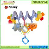 baby bed hanging toy/Kids twisty toy/Funny Spiral Stroller Toy