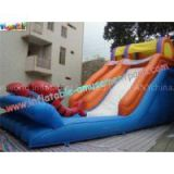 Kids Outdoor Inflatable Water Slides Games with PVC tarpaulin, Reinforced seams for Rental