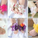 baby foot flower feet band foot ties barefoot sandals baby first walker shoes