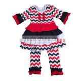 baby clothes 2017 chevron print national outfits baby clothing wholesale girls boutique clothing sets
