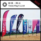 Can OEM or ODM Outdoor Advertising flying beach flag banner,teardrop feather flag, blade swooper beach flag