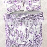 Bohemian Indian Mandala Feather Queen Size Duvet Donna Cover With Pillow Cover Decor