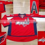 accept PAYPAL ! EDGE Washington Capitals 8# ALEX OVECHKIN red new Hockey Jersey (Customized available)
