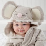 wholesale 100% cotton with hood bathrobe for baby