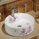 Top sale ceramic decal bathing basin