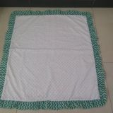Minky blanket with zigzag decoration