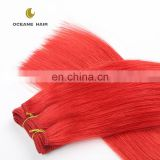 China wholesale genuine new style 3 bundles red brazilian hair weave