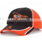 Wholesale Embroidered Black and Orange Baseball Caps