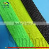 Heat Insulation Antiwear BLACK 31.8MM LAYFLAT Automotive Wiring Harness Braided Sleeve Cable