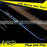 AKD Car Styling Hyundai IX45 LED Moving Door Scuff IX45 LED Door Sill plate 2013-2014 Santa Fe Side Step Cover Pedal
