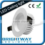 Pure white cutout 95mm Fire rated dimmable led downlight