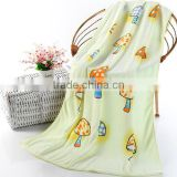 2015 new style quick dry super soft cartoon mushroom design cotton baby bath towel