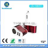 3 in 1 Car charger with oem LOGO dual usb port car charger 3.1A car cigarette lighter power charger