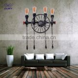 Excellent quality Iron Industrial Water Pipe Lighting Wall Lamp