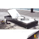 Great look fashional can wicker outdoor plastic moulded sun lounger