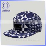 China good Wholesale Fashion 5 Panel Hats And Caps / Sublimation Snapback Hat With Woven Label