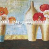 Best Service Big Size Low Price Modern Printed Flower and Vase Oil Painting for Living Room Decoration
