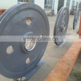 Large forged steel pulley wheel/industrial cast iron wheels