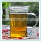 The most popular Glass tea cup with infuser / borosilicate glass cup with lid