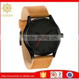 Genuine Leather Band Elegant Men Casual Fashion Quartz Watch                                                                         Quality Choice