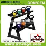Dipping Kettlebell rack/Two layer rack/Powder coated kettlebell rack/horizonal kettlebell rack