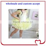 Newly cotton green girl ballerina skirt wholesale high quality kids ballet dress classicism dance tutu dress