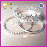 925 italian silver midi ring crown ring silver ring settings without stones