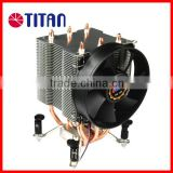 Aluminum fin intel core i7 i5 LGA 1156 1366 CPU copper heat pipe 12V 90mm cooling fan cooler