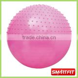 half massage anti-burst gym ball for sale female aerobic exercise inflatable fitness ball