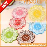Promotional Exquisite Gift Eco-friendly Round Silicone Cup Mat, Wholesales Tea Cup Coaster