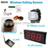 Restaurant Wireless Waiter Call System Display,Kitchen Numberic Keypad,Smart Watches and Table Buzzers