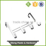 Metal Hooks And Hangers Over Door 4 Hooks With Chrome Plating