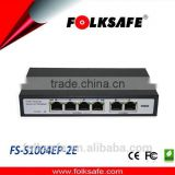 Folksafe network switch with POE 4 port unmanageable light 2 uplink no outdoor