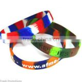 Multi Colour Embossed Wristbands