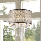 Crystal Chandelier Led Light Chandelier Home Decor Hanging Lamps Lighting Pendant Light Modern Lamps Black Shade CZ1029/4