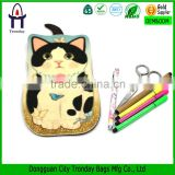 Felt animal pencil case, flap felt cat heat transfer printing pencil bag