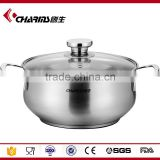 Glass Lid Steamer Pot, Commercial Large Capacity Stainless Steel Electric Food Steamer Pot